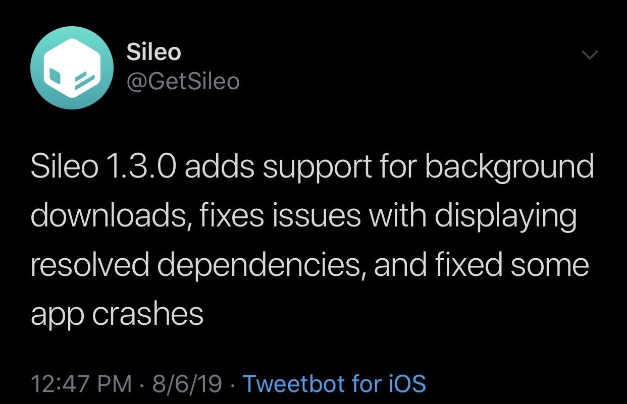 Sileo Team, hata düzeltmeleri ve performans iyileştirmeleriyle Sileo v1.3.0 sürümünü yayımladı. 2