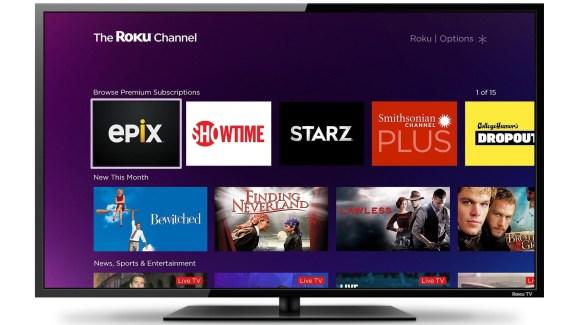 TV'de roku kanalı ana ekranda