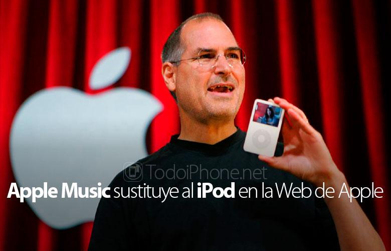 Web sitesinin iPod bölümü Apple müzikle değiştirildi 1