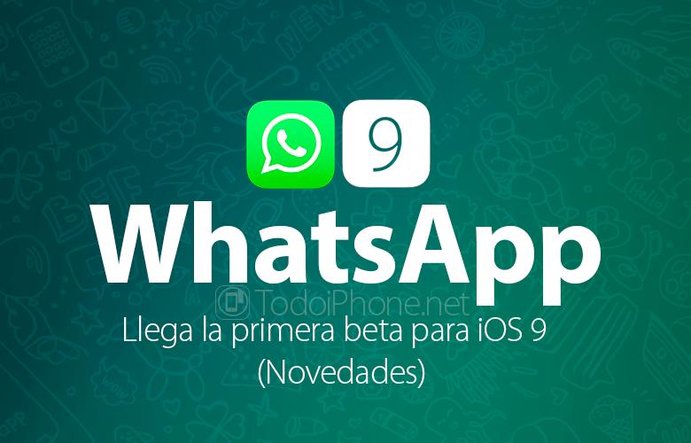WhatsApp Beta iOS 9'a geldi (Haberler) 1