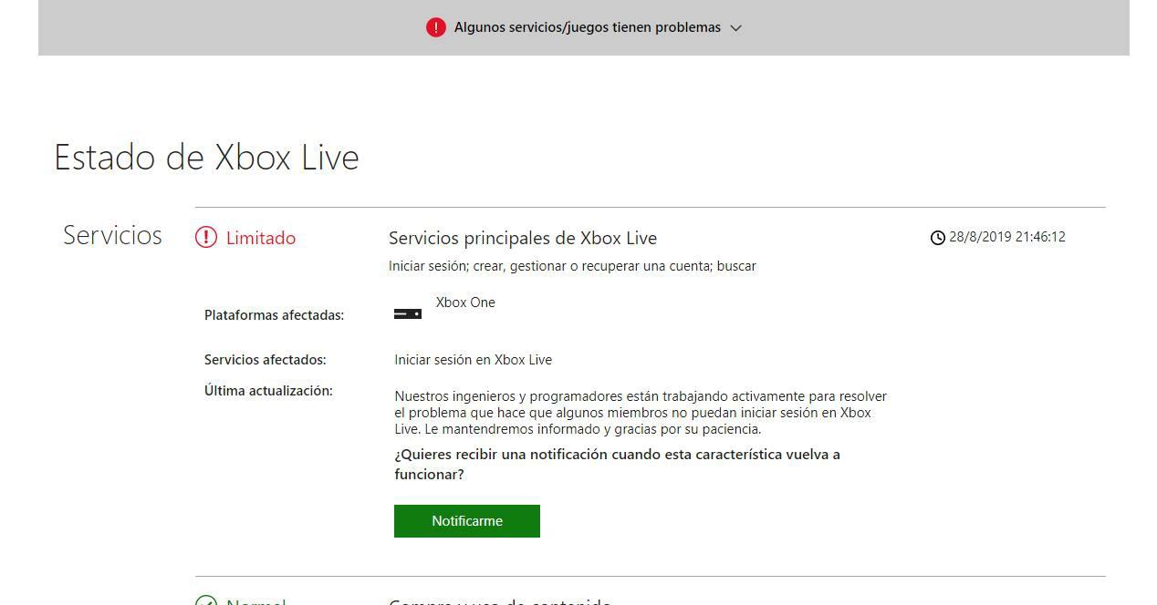 Xbox Live düştü