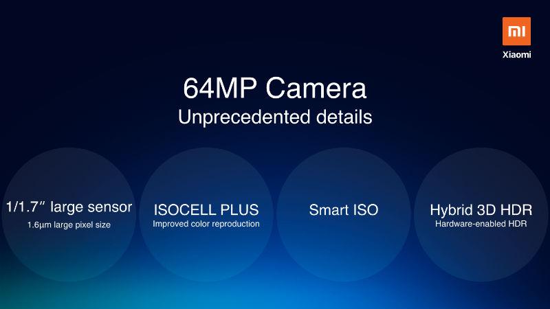 Xiaomi Redmi telefon 644 kamera sensörü ile Q4 2019 gelen 1