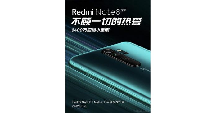 Xiaomi Redmi Note 8 serisi lansmanı posteri
