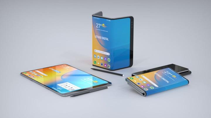 katlanabilir lg katlanabilir cihaz patent telefonu render