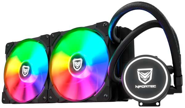 Nfortec Hydrus RGB, iki fan