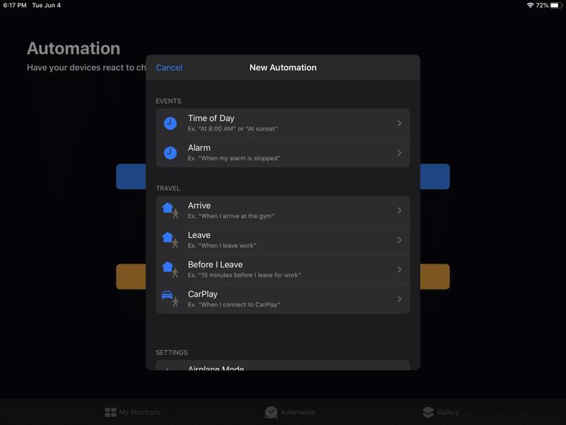 iPadOS 13 Kısayollar Otomasyonu