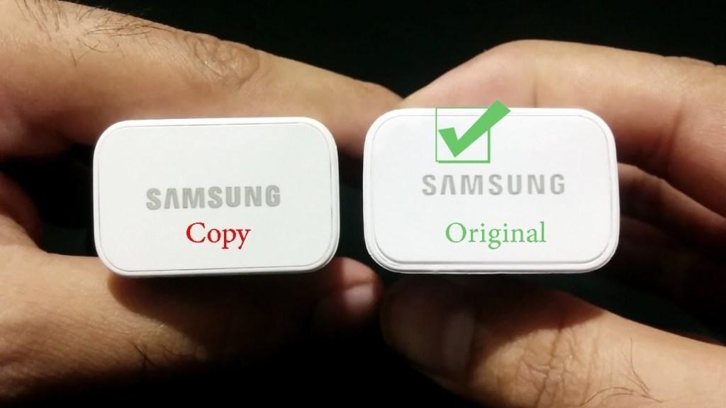 Samsung kelimesini yazmak arasındaki fark dikkat edin (Resim: mobilefun.co.uk)
