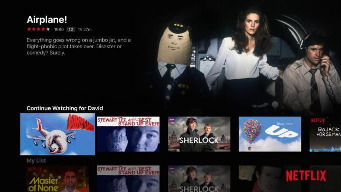 4. Gen Apple TV Netflix ana menüsü