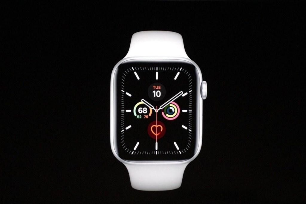 Güvenlik artı nokta Apple Watch 5 gibi düşme sistemleri ve sağlık, ayrıca bir acil çağrı sistemi