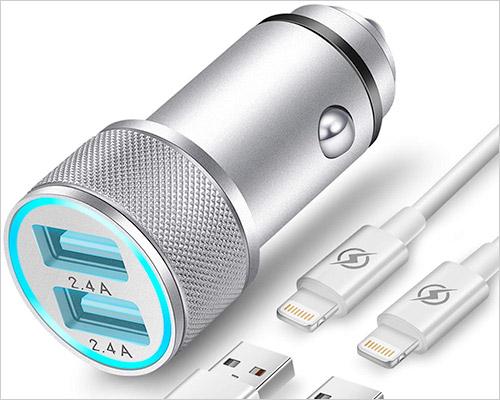 FIMARR iPhone X, 8 ve 8 Plus Araç Şarj Cihazı
