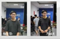 Samsung arasındaki kamera karşılaştırması Galaxy Note  10 Plus ve Google Piksel 4