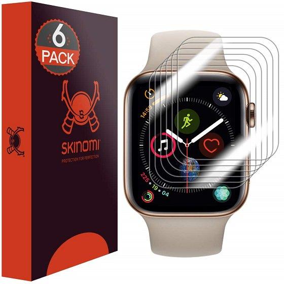 3. Skinomi TechSkin - Apple Watch Seri 5 Ekran Koruyucuları