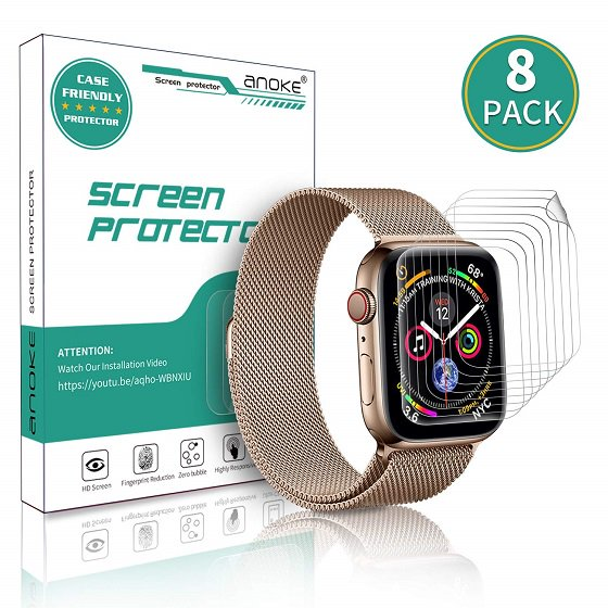 5. AnoKe Ekran Koruyucu - Apple Watch Seri 5 Ekran Koruyucuları