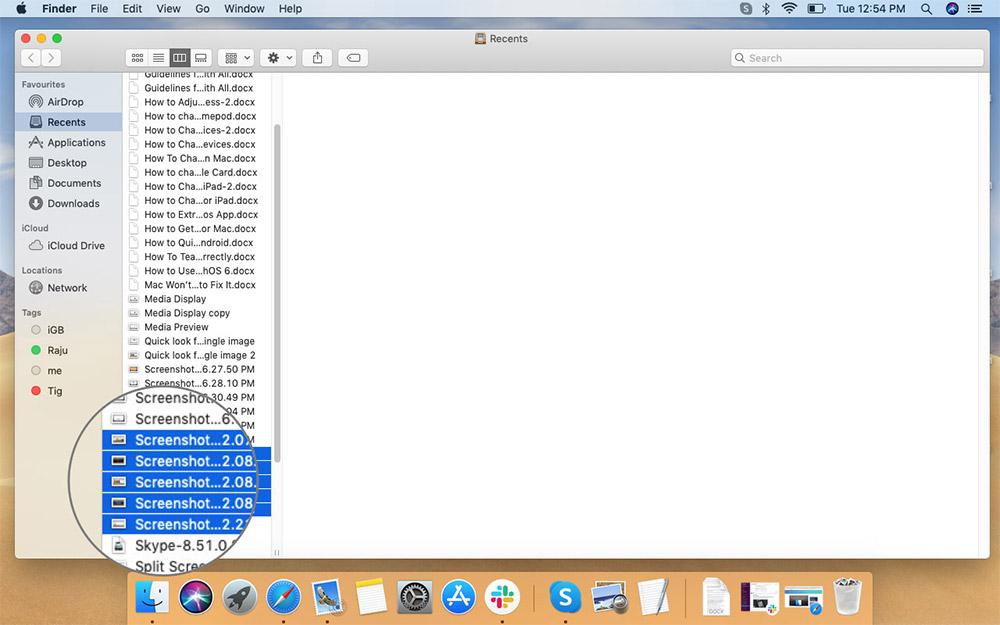 Mac Finder'da Hızlı Bakış'ta Görüntülenecek Birden Çok Dosya Seçme