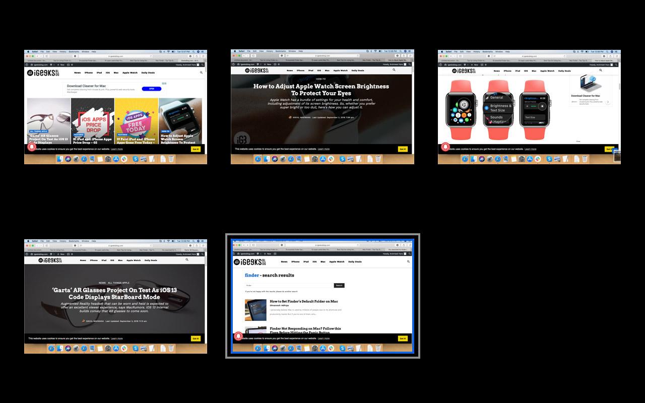 Mac Finder'da Hızlı Bakarak Dosyayı Yakınlaştırmak için Pencereyi Seçin