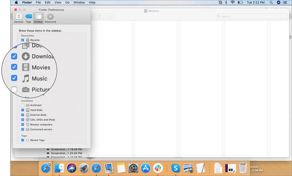 Mac'teki Finder Sidedar'a Klasör Ekleme