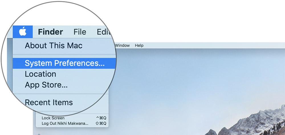Mac'te Sistem Tercihleri'ne tıklayın