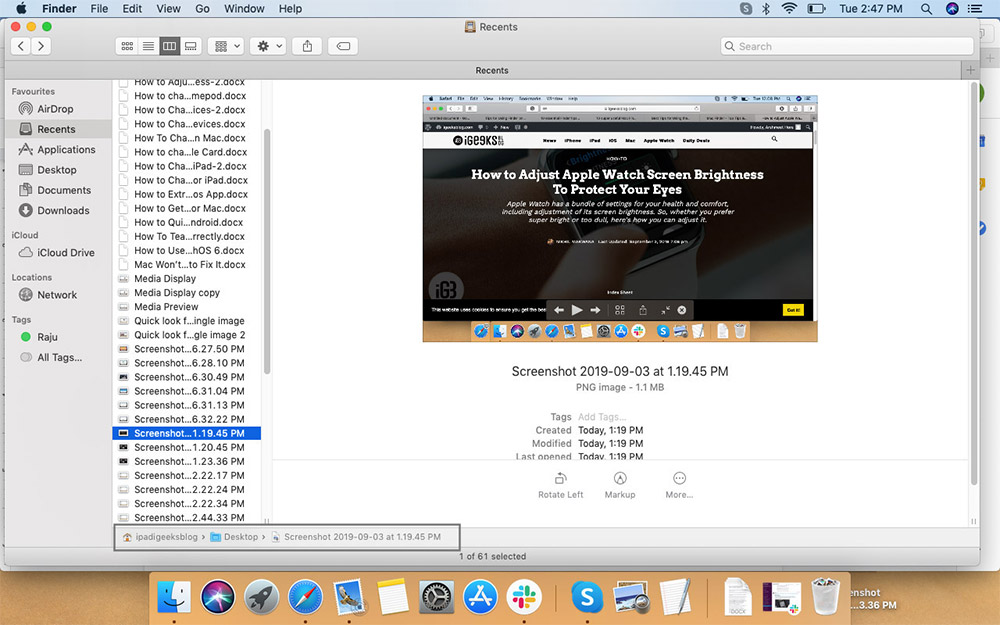 Mac'te Finder Penceresinde Klasör Yolunu Görüntüleme