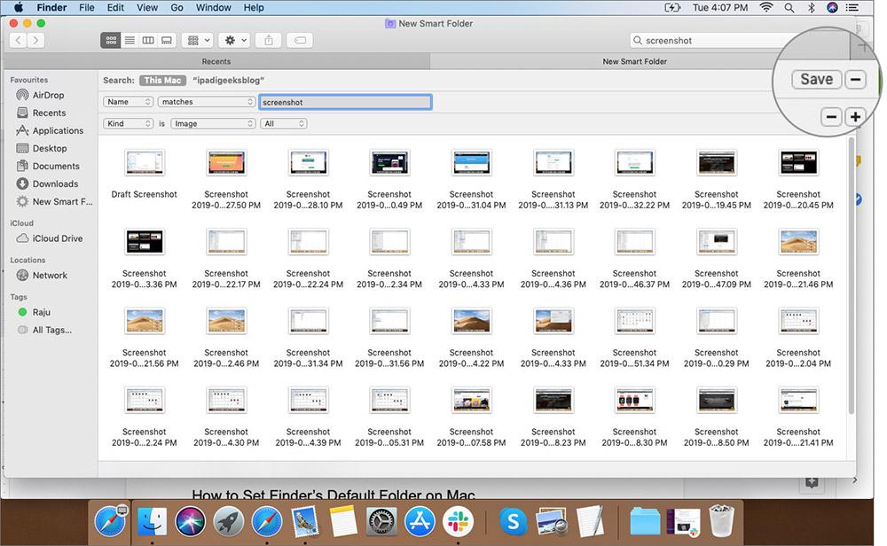 Seçilen Seçenekleri Mac'teki Finder Dosya Menüsüne Kaydet