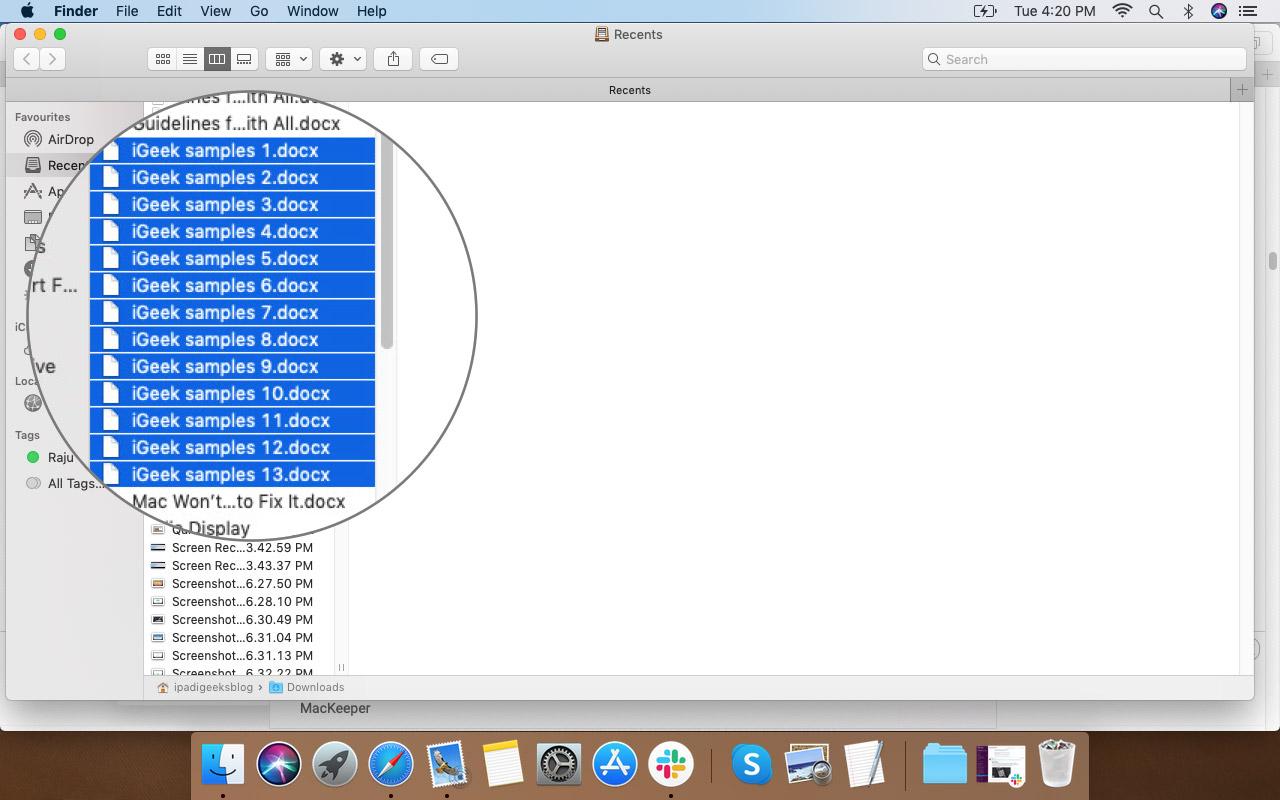 Mac Finder App'ta Dosya Adındaki Değişiklikleri Görüntüleme