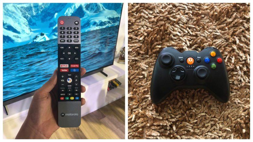 Motorola'nın yeni akıllı TV'si, akış servis düğmeleri ve Bluetooth joystick gamepad ile uzaktan kumandaya sahip