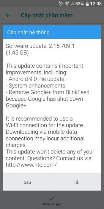 Şimdi Android 9 Pie'ye güncellenen HTC U11 + 2