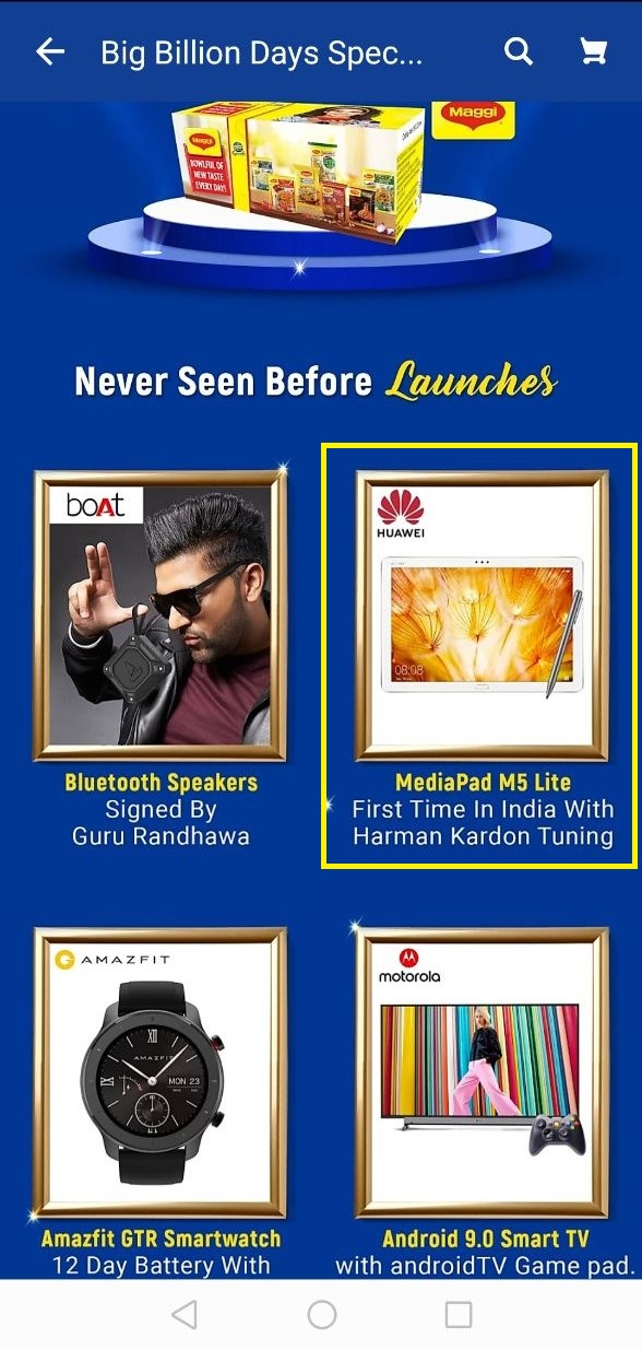 8 inç FULL HD ekrana sahip HUAWEI MediaPad M5 Lite, Flipkart Büyük Milyar Günleri sırasında Hindistan'da 5100mAh pil başlatılması 2