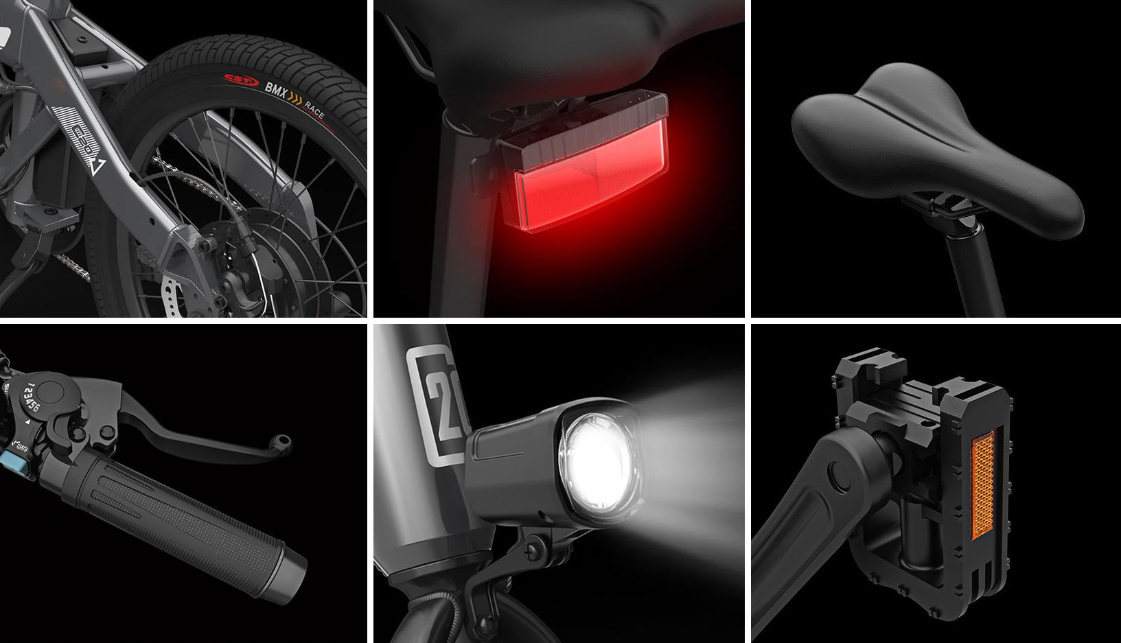 Xiaomi Himo C20, 80 km menzile sahip elektrikli bisiklet 3