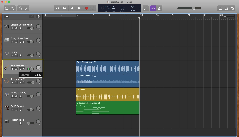 GarageBand Parça Sesini Ayarla Mac