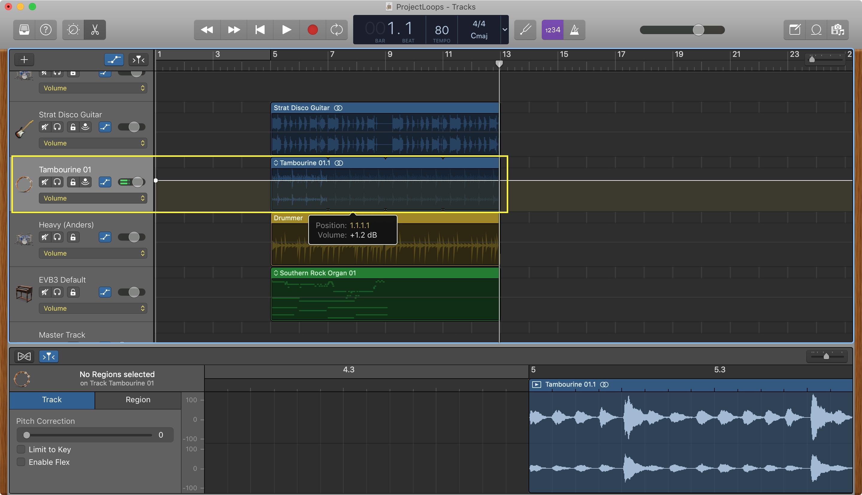 GarageBand Parça Değiştirme Mac