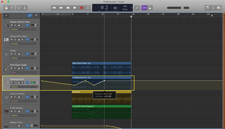 GarageBand Ses Seviyesini Ayarla Mac