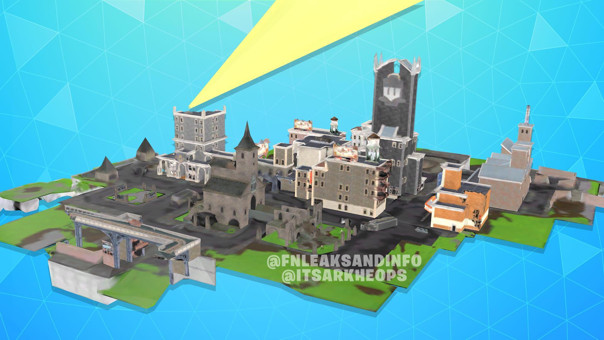 Fortnite  x Batman Gotham Şehri Sızdıran Binalar