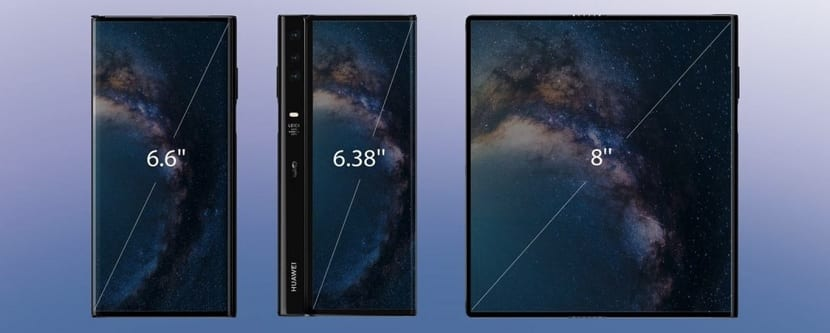 Huawei Mate X ekranları