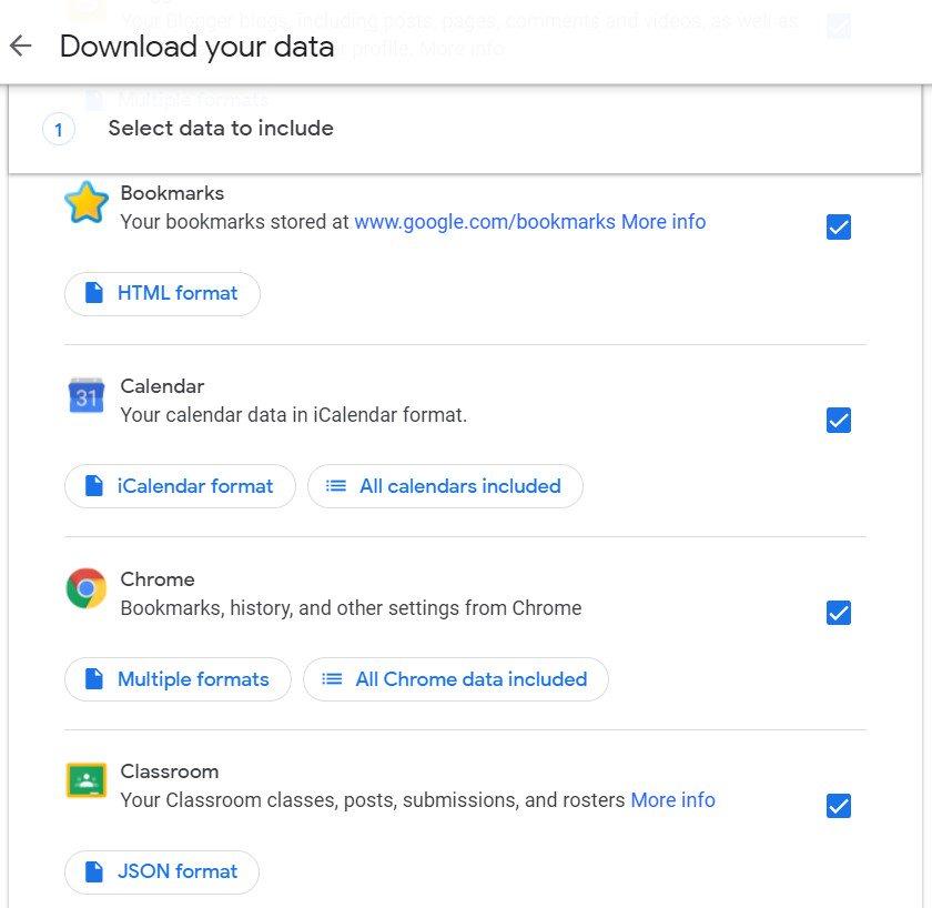 google etkinlik verilerini indir