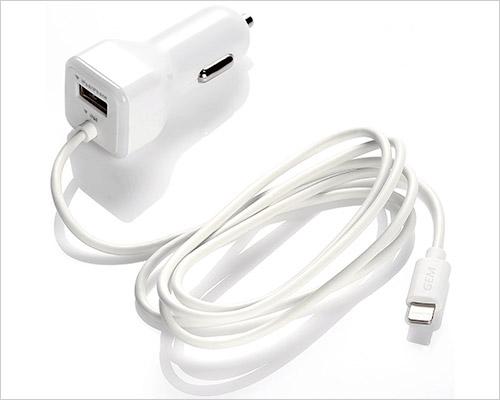 İPhone X, iPhone 8 ve iPhone 8 Plus için Gembonics Araç Şarj Cihazı