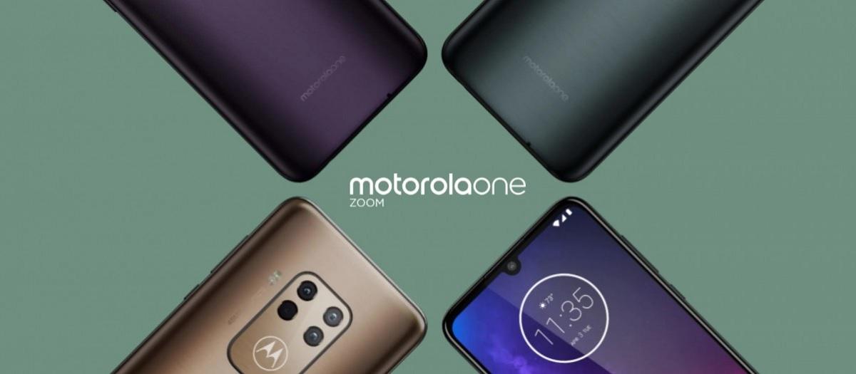 4 arka kamerası ve diğer üstün özellikleri olan bir cep telefonu olan Motorola One Zoom'u tanıttı 1