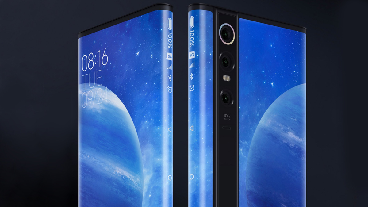 4 boyutlu kavisli ekran ile serbest Xiaomi Mi MIX Alpha konsept 5G telefon 1