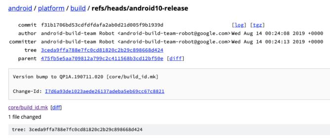 AOSP'de Android 10 kaynak kodu kullanıma sunuldu 2
