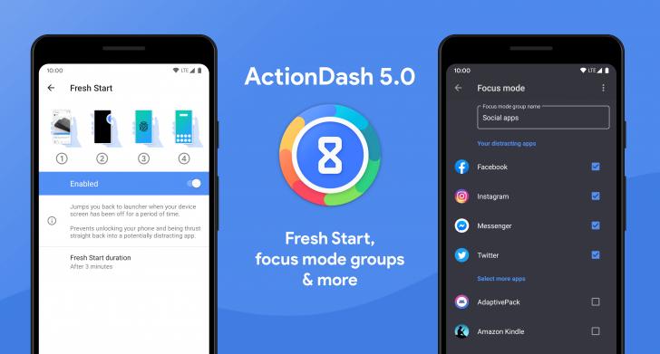 ActionDash v5.0 güncellemesi, Yeni Başlatma özelliği ve ek Odak Modu seçeneklerini sunar 1