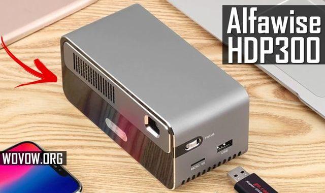 Alfawise HDP300 İlk Bakış: 7000 mAh Pilli DLP Projektör