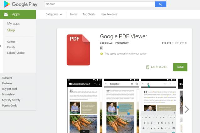 google pdf görüntüleyici android pdf açamıyorum çözer