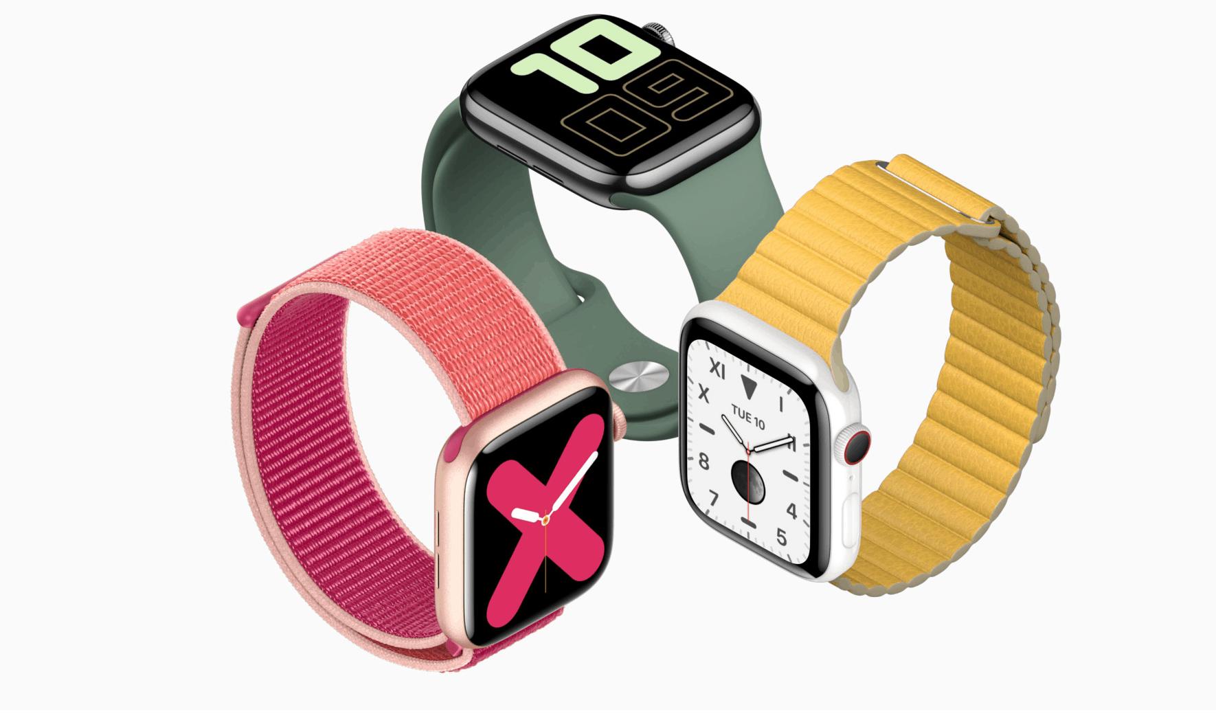 İçin ön siparişler Apple Watch Seri 5 Şimdi Kullanılabilir 1