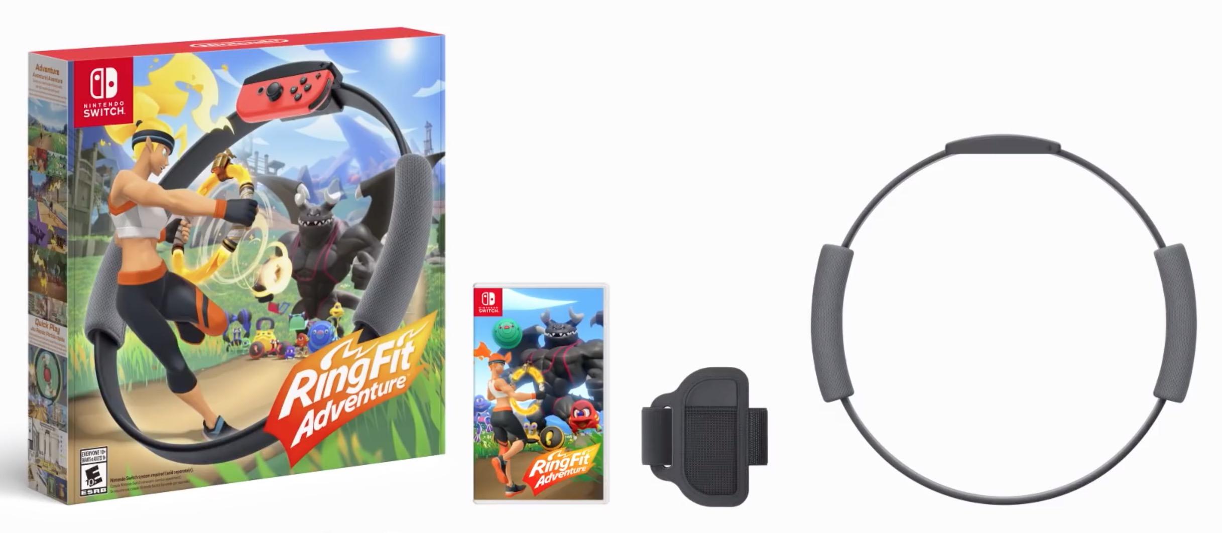 Belki birkaç kilo vereceğim. RingFit Adventures, konsol için düşünceli bir fitness aleti Nintendo Switch 1