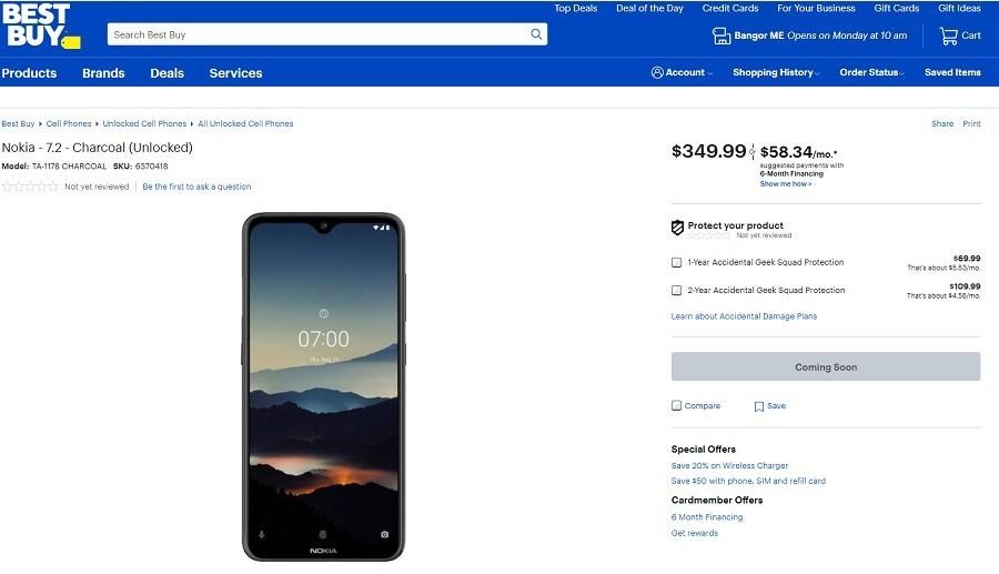 Best Buy ayrıca Nokia 7.2'yi ABD pazarına getiriyor 1