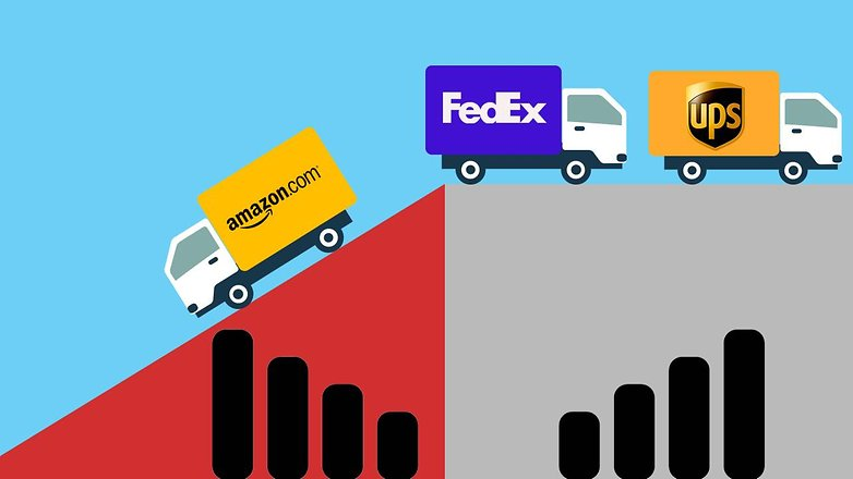 Amazon  FedEx ve UPS'e Kadar Kareler