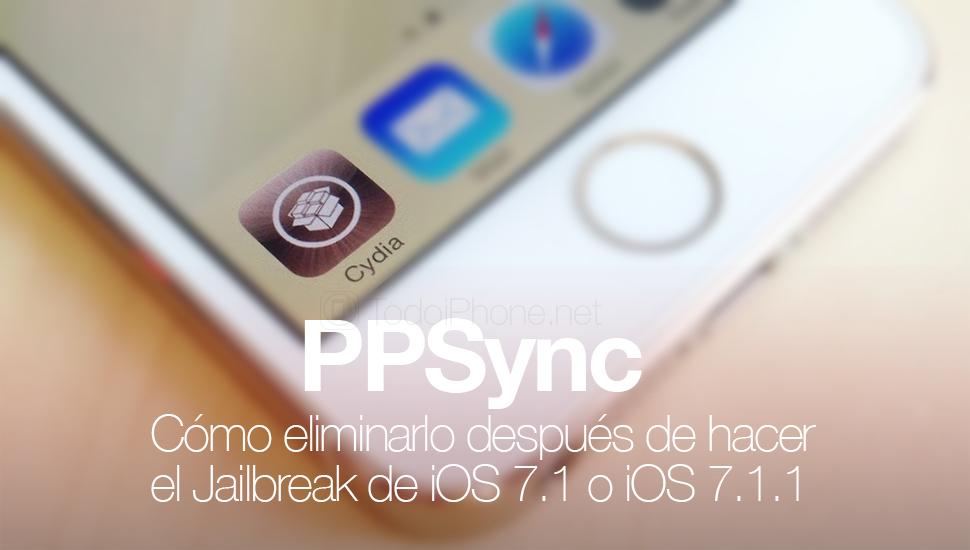 Çökmesini önlemek için iOS 7.1.x Jailbreak sonrası PPSync nasıl kaldırılır 1