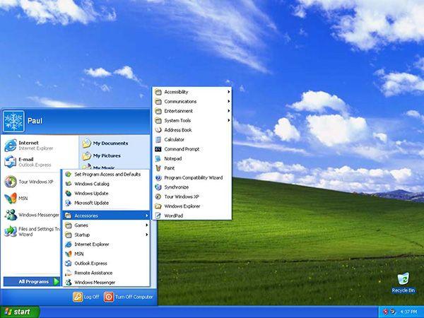 Den başarıyla aktarılıyor Windows XP 2