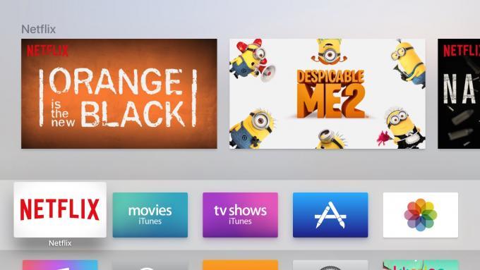 4. Gen Apple TV Netflix ana ekranı