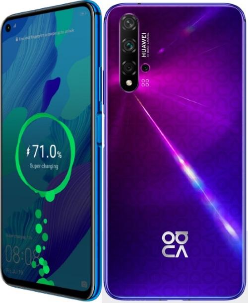 Huawei Nova 5T, 6.26 inç FHD + ekran ve üç sunum rengiyle geliyor