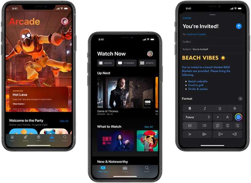 iOS 13 yüklü